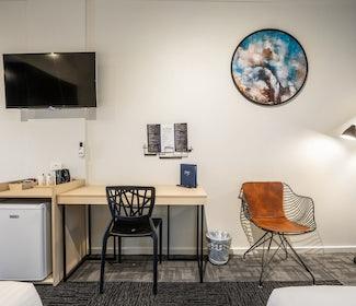 In-Room Amenities in Studio Twin Queen at Nightcap at Keysborough Hotel