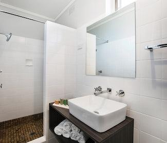 Ensuite Bathroom in Compact Studio at Nightcap at Jamison Hotel