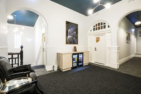 Interior Hallway at Nightcap at Belgian Beer Cafe