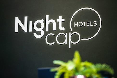 Frankston accommodation nightcap at the cheeky squire black logo