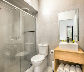 Ensuite Bathroom in One Bedroom Apartment at Nightcap at the Cheeky Squire