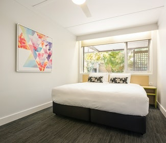 Bedroom in Two Bedroom Apartment at Nightcap at Coolaroo Hotel