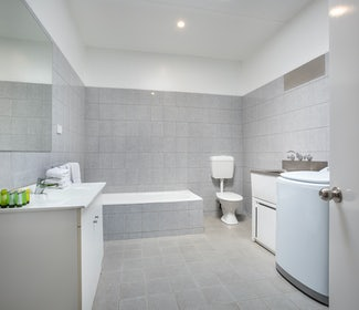 Bathroom in Two Bedroom Apartment at Nightcap at Coolaroo Hotel