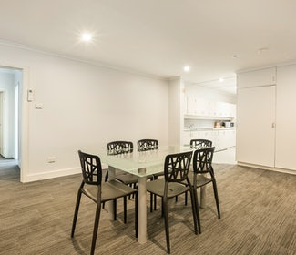Dining Area in Two Bedroom Apartment at Nightcap at Coolaroo Hotel