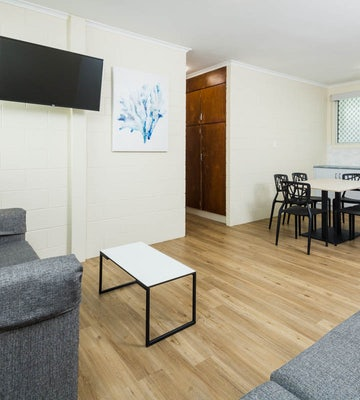 Living and Dining Area in Three Bedroom Apartment at Nightcap at Edge Hill Tavern Manunda
