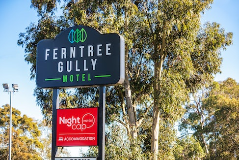 Hotel Entrance at Nightcap at Ferntree Gully Hotel Motel