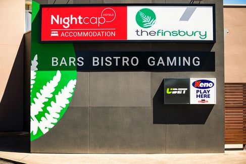 woodville north accommodation bistro entrance nightcap at finsbury hotel