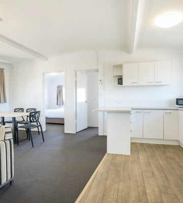 Kitchen in Two Bedroom Apartment at Nightcap at Golden Beach Tavern Caloundra