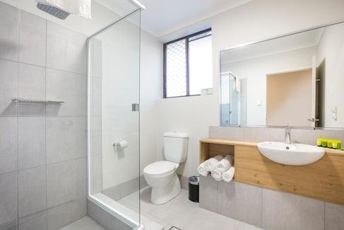Ensuite Bathroom at Nightcap at Kawana Waters Hotel