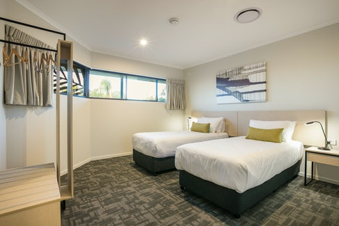 Bedroom in Three Bedroom Apartment at Nightcap at Kawana Waters Hotel