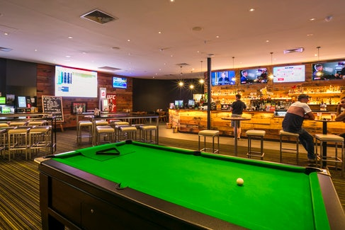 Billiards at Nightcap at Kawana Waters Hotel