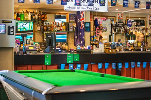 Sports Bar and Billiards at Regents Park Hotel