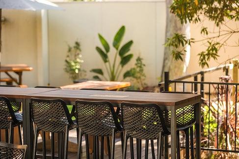 Nightcap restaurant outdoor area regents park bistro