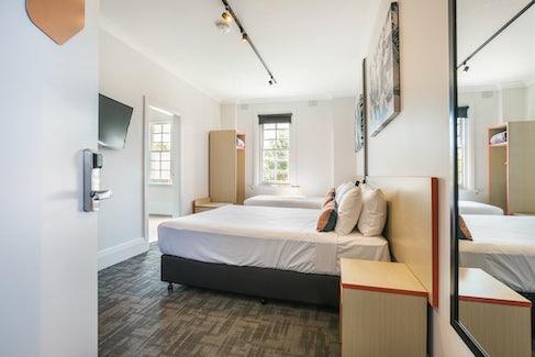 regents park accommodation bedroom door view regents park hotel nightcap