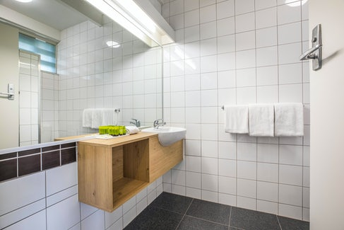 seaford accommodation bathroom sink view 3 nightcap at seaford hotel