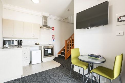 Kitchen in One Bedroom Apartment at Nightcap at the Ship Inn