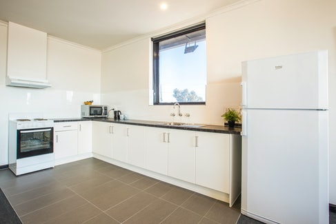 Kitchen in Two Bedroom Apartment at Nightcap at St Albans Hotel