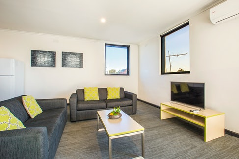 Living Area in Two Bedroom Apartment at Nightcap at St Albans Hotel