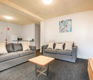 Living Area in Four Bedroom Apartment at Nightcap at Waltzing Matilda Hotel