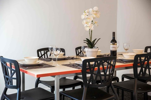 Dining Area in Four Bedroom Apartment at Nightcap at Waltzing Matilda Hotel