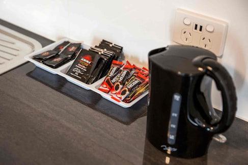 Tea and Coffee Making Facilities at Nightcap at Waltzing Matilda Hotel