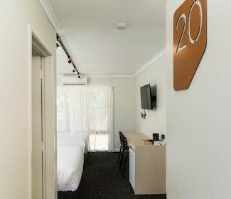 nightcap at balaclava hotel studio queen and single door opening
