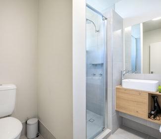 Ensuite Bathroom in Studio Queen at Nightcap at Chardons Corner Hotel