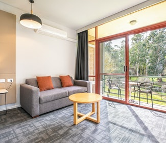 Mount Evelyn accommodation studio spa queen lounge room area nightcap at York on lilydale