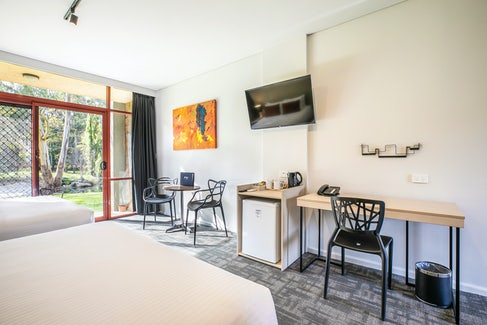 nightcap at york on lilydale mount evelyn apartment with mini bar and table