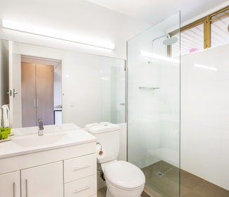 Ensuite Bathroom in Studio Family at Nightcap at Shoppingtown Hotel