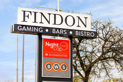 Hotel Entrance at Nightcap at Findon Hotel