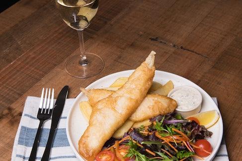 Fish n Chips at St Albans Hotel