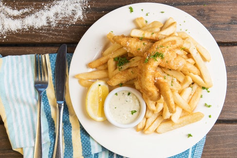 Fish n Chips at Seaford Hotel