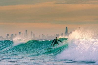 Surfer in Gold Coast QLD