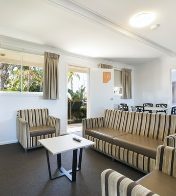Living and Dining Area in Two Bedroom Apartment at Nightcap at Golden Beach Tavern Caloundra