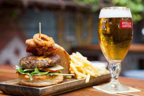 Burger and Beer at Belgian Beer Cafe