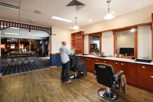 Barber Shop at Nightcap at Blue Cattle Dog Hotel