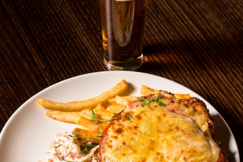 Chicken Parma and Beer at Keysborough Hotel