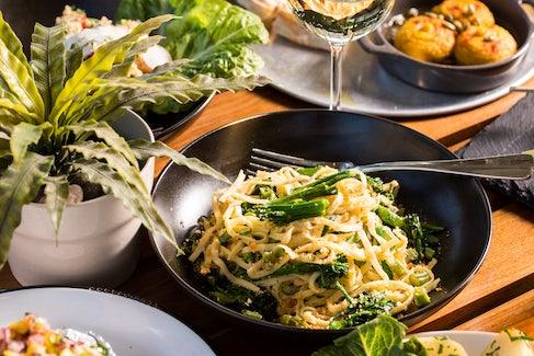 Veggie Pasta at Sandringham Hotel